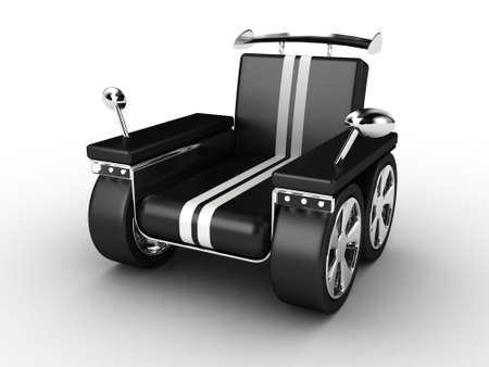 elbowchair: Illustration of an armchair in the form of the sports car