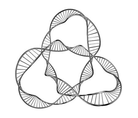 researches: Illustration of a dna in the form of the closed infinity