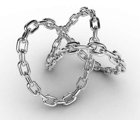 metal structure: Illustration of a chain in the form of the closed infinity Stock Photo