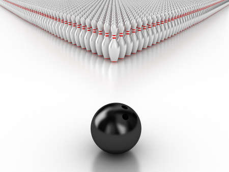 bowling: Ilustraci�n de una bola de bolos y para el bowling Foto de archivo