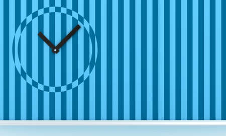 Illustration of the clock on a wall in an empty room Stock Illustration - 11740961