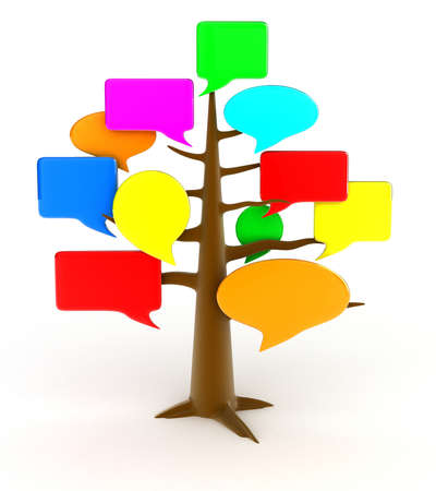 inform: Illustration of a tree of a forum on a white background