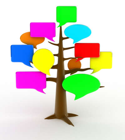 Illustration of a tree of a forum on a white background illustration