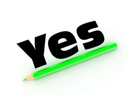 answer approve of: Illustration of a green pencil and word on a white paper