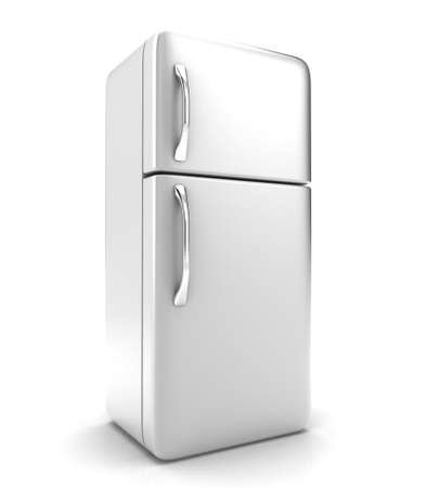 Illustration of a new fridge on a white background Фото со стока