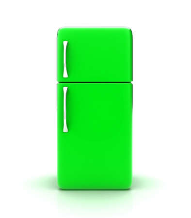 Illustration of a new fridge on a white background illustration