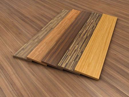 Illustratie van een houten vloer met verschillende kleur van een parket