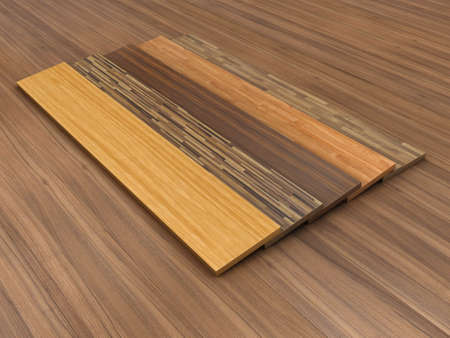 building material: Illustration of a timber floor with different colour of a parquet