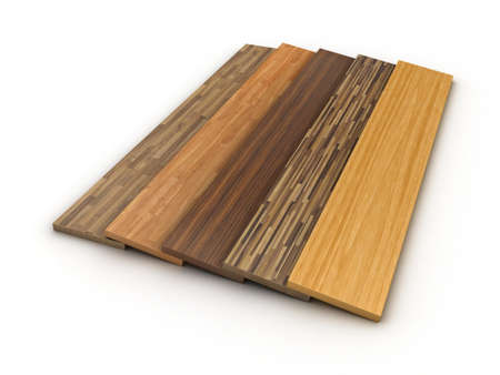 laminate flooring: Illustration of a colour parquet on a white background