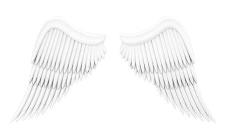 Illustration of wings of an angel on a white background illustration