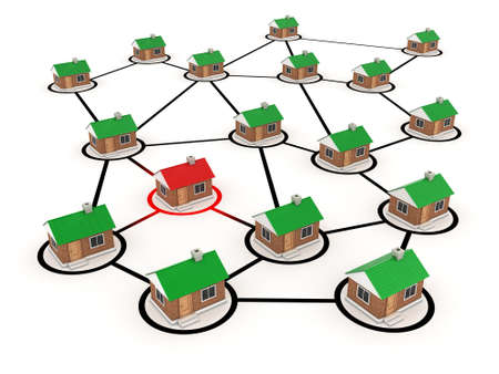 especial: Illustration of communications for many private houses