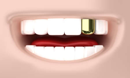 Illustration of a smile of the person with white teeth illustration