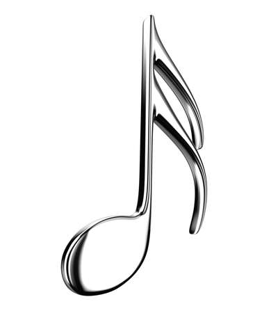 Illustration of the silver note on a white background Stock Illustration - 12853441