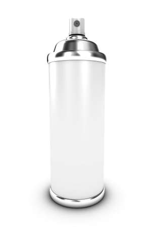 hairspray: Illustration of a spraycan with a paint on a white background