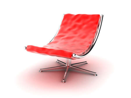 red chair: Illustration of an red armchair on a white background