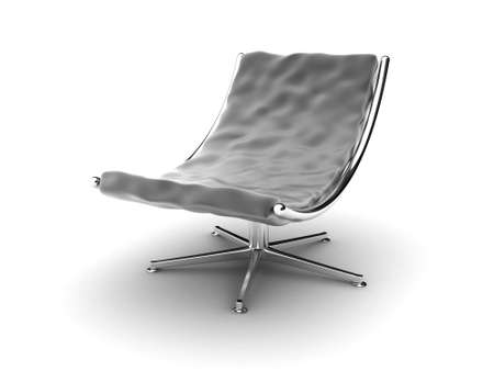 easy chair: Illustration of an black armchair on a white background