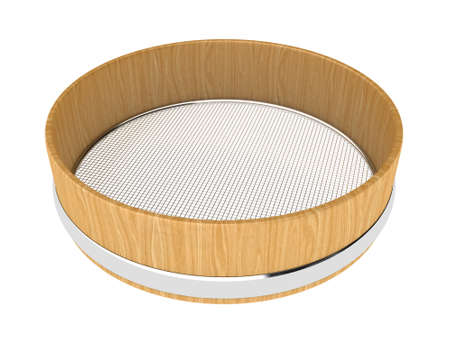 Illustration of wooden sieve on a white background Stock Illustration - 13489615