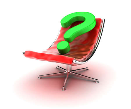 Illustration of an red armchair with a question sign Stock Illustration - 13647258
