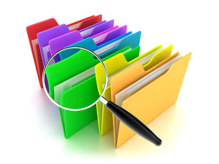 Illustration of a multicoloured folders on a white background