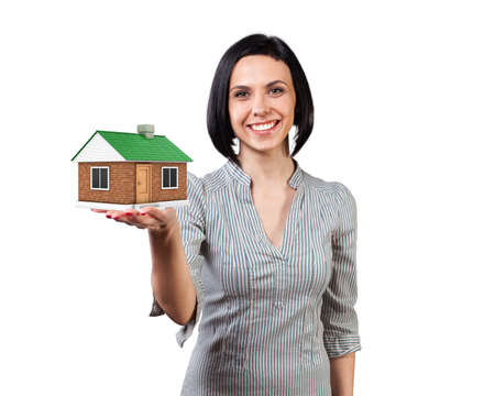 Photo of the girl with a house in a hand Stock Photo - 18936169