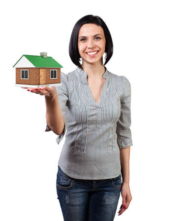 Photo of the girl with a house in a hand Stock Photo - 18988167