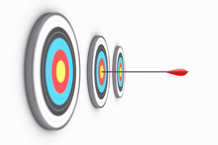 targets: Illustration of the round targets with an arrow in the centre Stock Photo