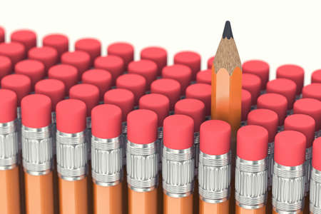 sharpen: One pencil is allocated among many other pencils