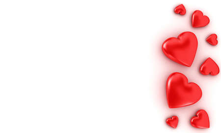 hearts background: Background with red hearts inscription congratulations