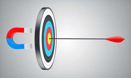 focus: Illustration of the round target with an arrow in the centre