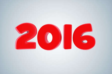 newyear card: Illustration of red numbers 2016 on a light background