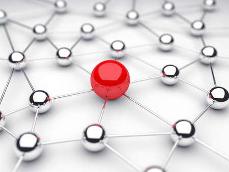 通信: 球を中心に球からの通信の図