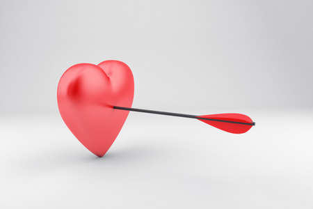 tempt: Illustration of red heart with an arrow in it