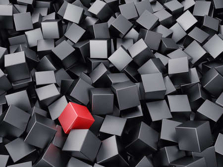 unique: Background from set of cubes of black colour