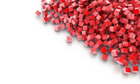 abstract business: Background from heap of cubes of red colour