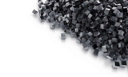 especial: Background from heap of cubes of black colour