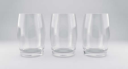 3D illustration of tumblers on a white background