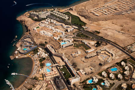hot climate: Photo of resort town with hotels and hot climate