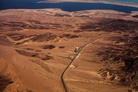hot climate: Photo of desert with check point and hot climate