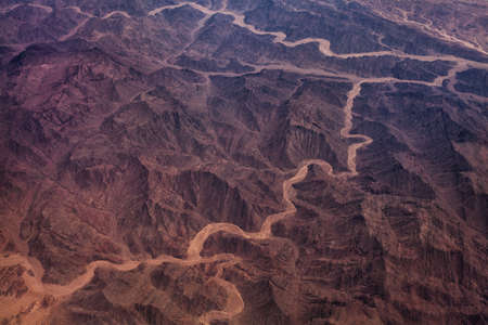 satellite: Photo of desert with dry and hot climate Stock Photo