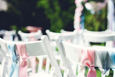 Prachtige natuur voor huwelijksceremonie op de aard Stockfoto