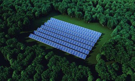De nieuwe zonne-energie genereert een pure elektriciteit