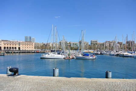 sulight: The oldest and largest port the city Barcelona
