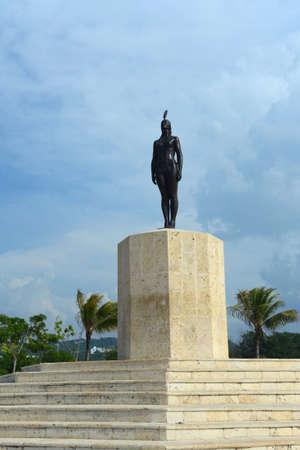 catalina: Monumento a Indian principessa Catalina a Cartagena Archivio Fotografico