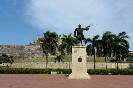 barajas: Blas de Leso Monumento in Cartagena Stock Photo