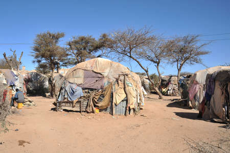 refugee: Camp for African refugees and displaced people on the outskirts of Hargeisa in Somaliland under UN auspices