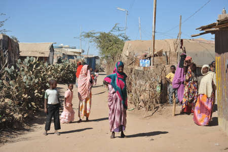auspices: Camp for African refugees and displaced people on the outskirts of Hargeisa in Somaliland under UN auspices