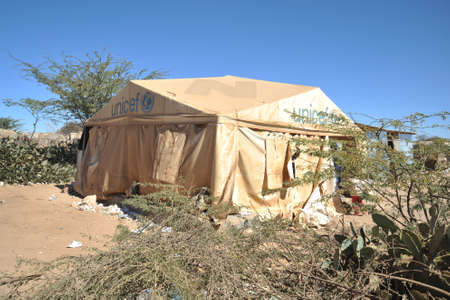 unicef: Campo scuola per i rifugiati africani, alla periferia di Hargeisa Archivio Fotografico