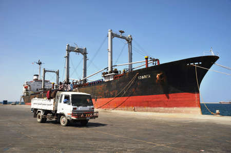 Sea port of Berbera in the Gulf of Aden