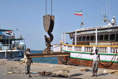 Sea port of Berbera in the Gulf of Aden