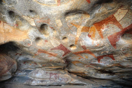 lived here: Image livestock, hunting and giraffes, lived here thousands of years ago
